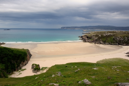 Sandy beach at a Scottish coast  photo