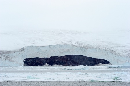 calving: Glacier at Antarctica Stock Photo
