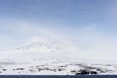 greenhouse effect: Mount Erebus on Antarctica