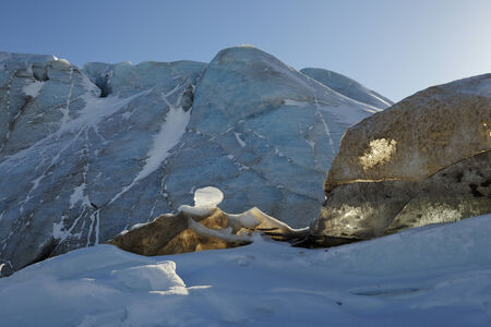 winterly: Detail from ice in front of glacier  Stock Photo