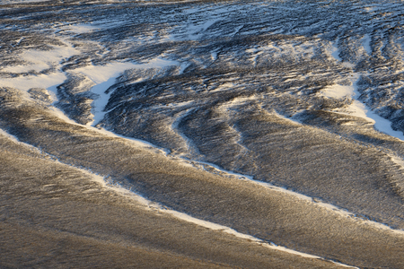 winterly: View on a frozen volcanic landscape.