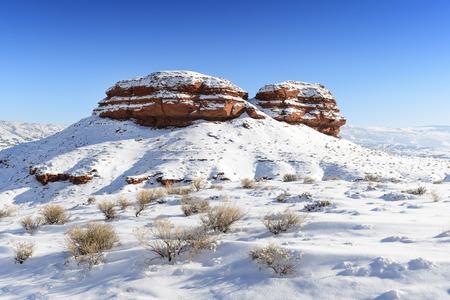Landscape during winter in Big Horn national park, Montana. USA 版權商用圖片