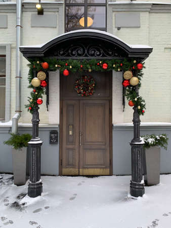 the entrance of the house in the new year