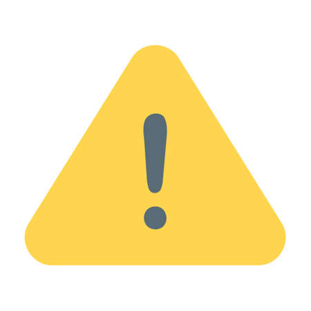 Warning icon in flat style for any projects, use for website mobile app presentation