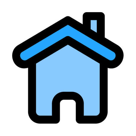 Home Page icon in filled line style for any projects, use for website mobile app presentation