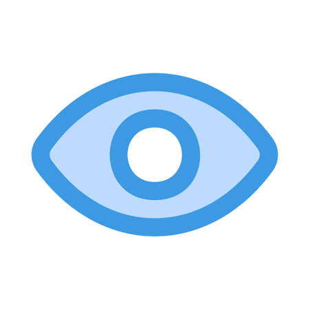 Visibility icon in blue style for any projects, use for website mobile app presentation 1