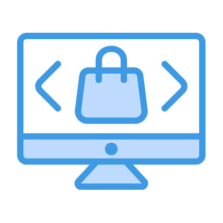 Select Product icon in blue style for any projects, use for website mobile app presentation Illustration