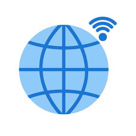 Globe in flat style about internet of things for any projects, use for website mobile app presentation