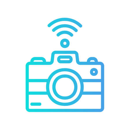 Camera icon in gradient style about internet of things for any projects, use for website mobile app presentation 向量圖像