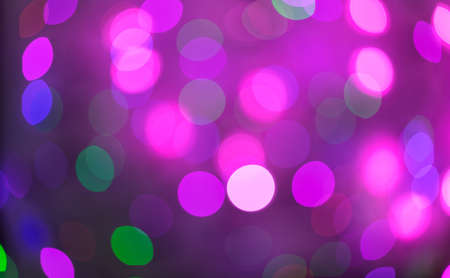 Pink And Purple Holiday Bokeh Abstract Christmas Background Lights Stock Photo