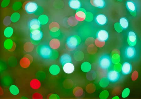 빨강 및 녹색 휴가 bokeh입니다. 추상 크리스마스 배경, 크리스마스 조명 backround 스톡 콘텐츠 - 33722797