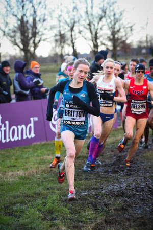 EDINBURGH, SCOTLAND, UK, January 10, 2015 - Fionnuala Britton leading the Woman