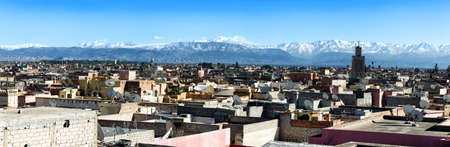 rooftops: Panoramic view over rooftops near Jemaa el Fna, Marrakech, Morocco