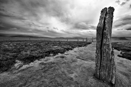 Circle of life - the Ring of Brodgar - a stone circle, or henge - Orkney islands, Scotland photo