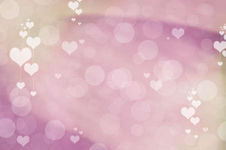 Valentine Hearts Abstract Background. St.Valentine's Day Wallpaper. Heart Holiday Backdrop Standard-Bild