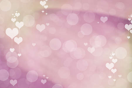 Valentine Hearts Abstract Background. St.Valentine's Day Wallpaper. Heart Holiday Backdrop Archivio Fotografico