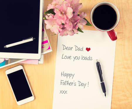 jornada de trabajo: Padres concepto d�as, Carta manuscrita de padre