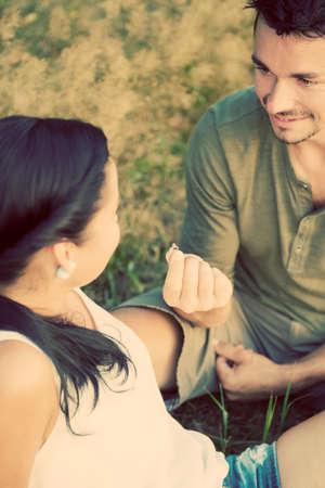 mariage: Proposition de mariage Banque d'images