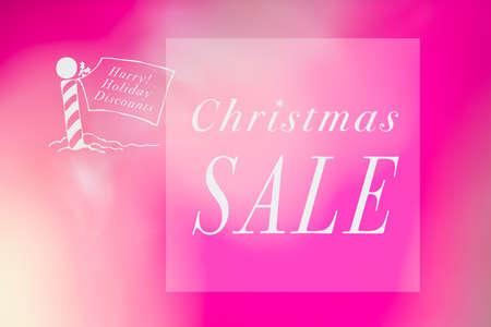 christmas savings: Christmas sale concept background