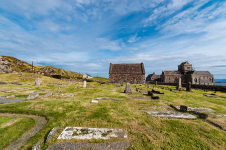 middleages: Iona Abbey, Holy isle of Iona, Scotland, nunnery, church and cemetery