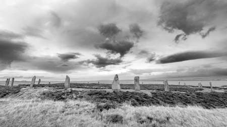 megaliths: Ring of Brodgar, Heart of Neolithic Orkney, awarded UNESCO World Heritage