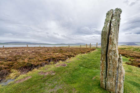neolithic: Ring of Brodgar, Heart of Neolithic Orkney Stock Photo