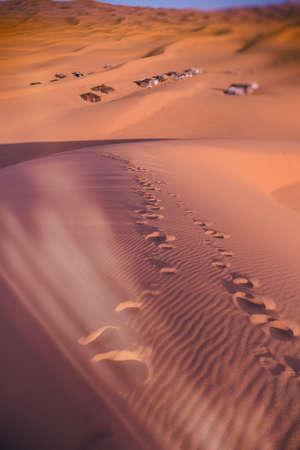 chebbi: Bedouin nomad tent camp, Erg Chebbi, Morocco, Sahara, Morocco