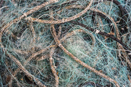 close up: Fishing net close up