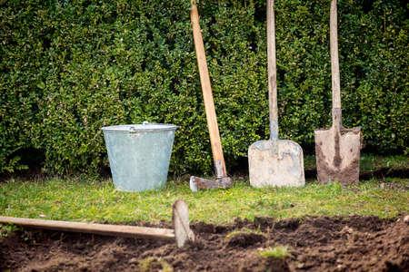 Garden tools 版權商用圖片 - 56351636