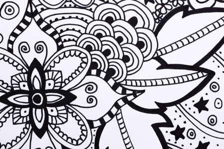 autocuidado: Adulto libro para colorear ilustración dibujados a mano, nueva tendencia aliviar el estrés