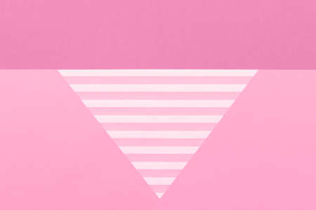 Abstract geometrical pastel pink flat lay background. Minimalism, geometry and symmetry template.