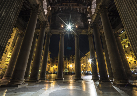 lazio: Rome, Lazio, Italy. The Pantheon at night Editorial