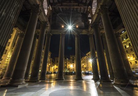 lazio: Rome, Lazio, Italy. The Pantheon at night Editorial