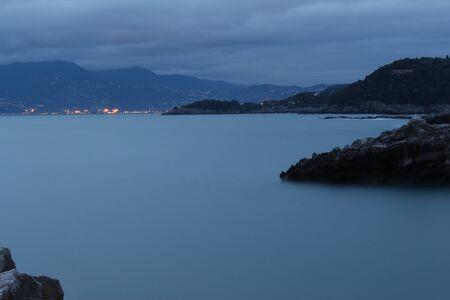 spezia: View of the gulf of the city of La Spezia in Italy Stock Photo