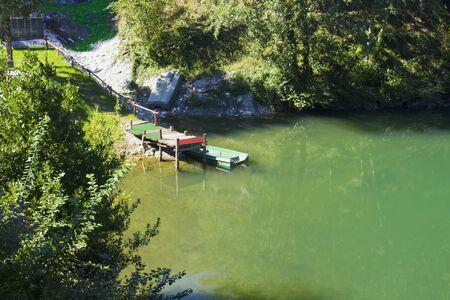Holy Island Lake Stockfoto