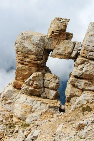 dolomite: Natural Dolomite stony arch