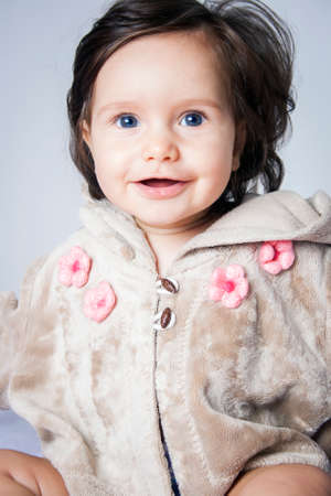 female eyes: Portrait of very sweet little child