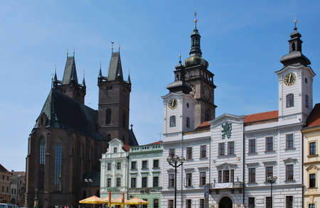 Hradec Kralove Houly Spirit Cathedrale and Historical Town Hall