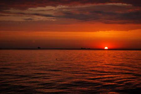 sunrise at sea Odessa - Ukraine Stock Photo - 11762153