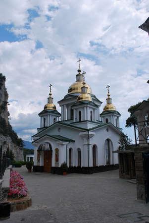 michael the archangel: Ukraine - Crimea - Yalta - Church of the Archangel Michael Stock Photo