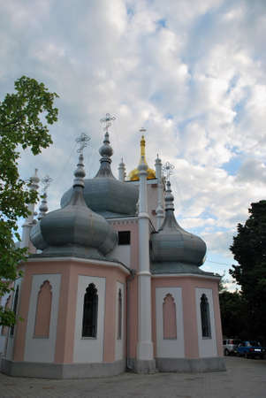 cupolas:  Masandra - Church on the Hill Stock Photo