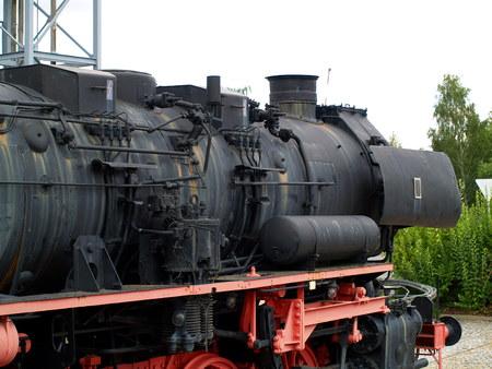 ps: Steam Locomotive, German Reichsbahn, Stock Photo