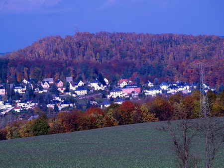 erzgebirge: Kleinstadt im Erzgebirge Stock Photo