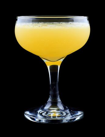 Monkey Gland cocktail, consisting of gin, orange juice, absinthe and grenadine