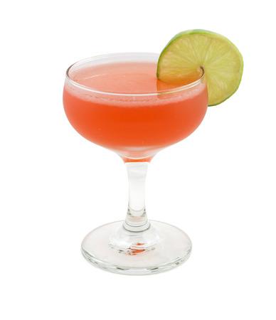スカーレット ・ オハラは、サザン ・ コンフォート、クランベリー ジュース、ライム ジュースを含むカクテル 写真素材