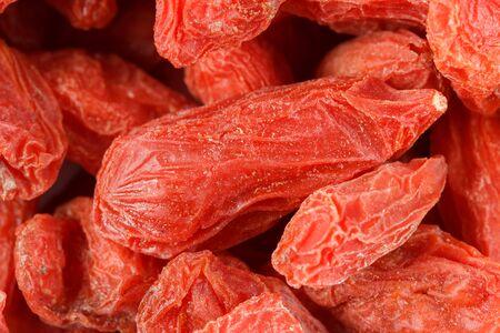 lycium: Closeup of dried goji berries Lycium barbarum