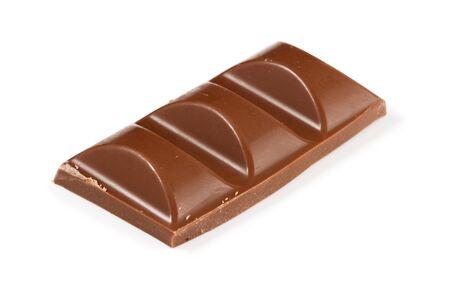 Three blocks of milk chocolate isolated against a white background Standard-Bild