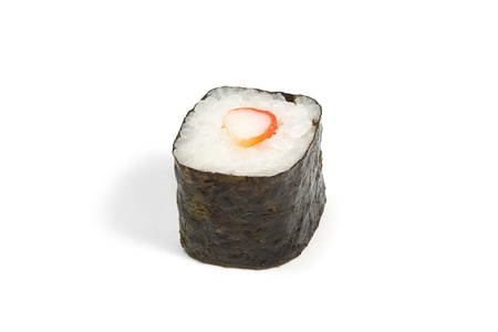 isoliert: Sushi maki roll on a white background