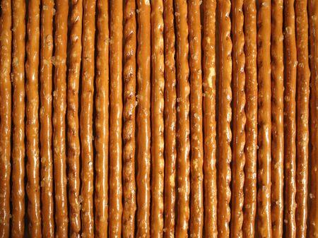 Savoury sticks placed in row.
