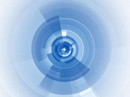 nucleo: Composici�n digital radial con anillos transparentes en rodajas y alambre de malla perdiendo lejos desde el n�cleo hasta el infinito  Foto de archivo